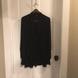 Wrap cardigan in black